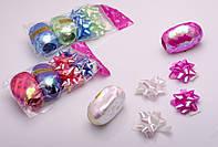 Набор для декорирования подарков: 4 банта, 2 ленты: 5 мм х 10 м, в ассортименте