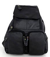 Рюкзак женский. Черный. Натуральная кожа, фото 1