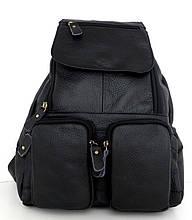 Рюкзак женский. Черный. Натуральная кожа