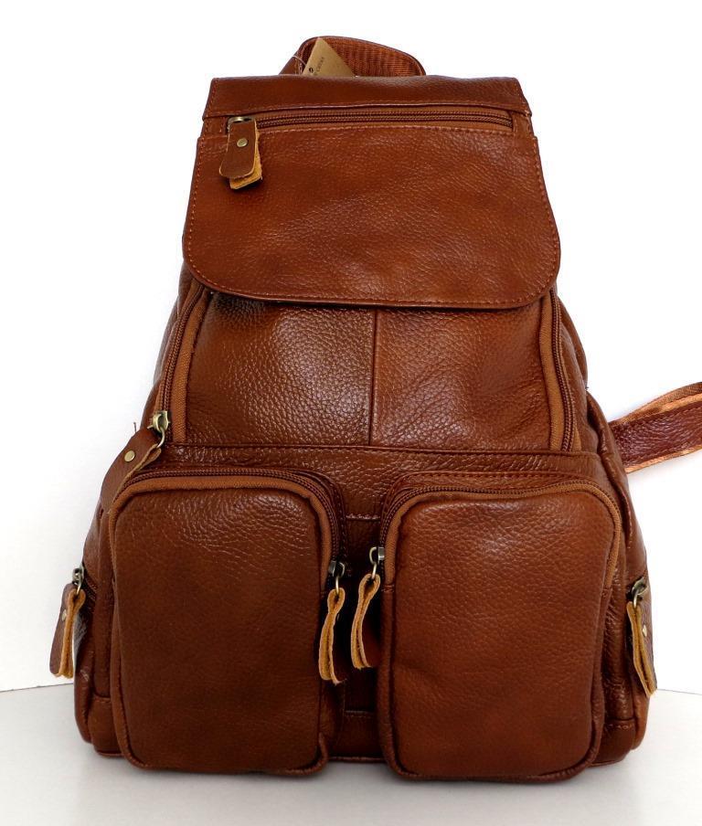 Рюкзак женский.  Коричневый. Натуральная кожа