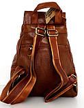 Рюкзак женский.  Коричневый. Натуральная кожа, фото 3