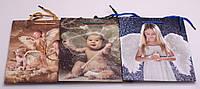 Пакет подарунковий паперовий, 18х23х10 см, в асортименті, фото 1