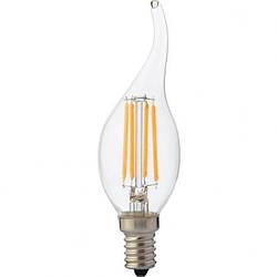 """Лампа Светодиодная """"Filament flame - 4"""" 4W свеча на ветру Е14 4200К, 2700К"""