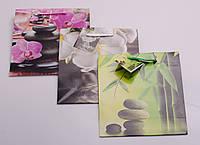 Пакет подарунковий паперовий, 16х18х7 см, в асортименті