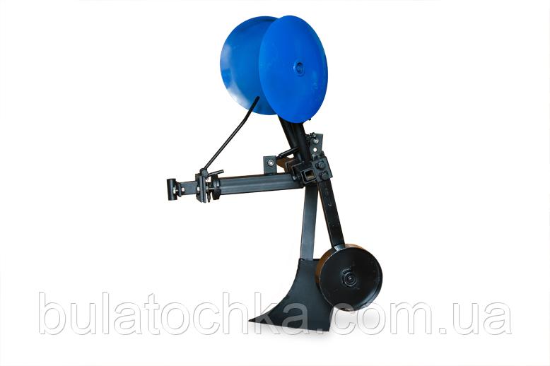 Картофелесажалка КСОП - 1 (AGROMARKA) для мотоблока оборотная с опорным колесом