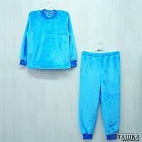 Детская теплая пижама на манжете для девочек