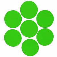 Конфетти кружочки, зелёные 23 мм, 100 грамм
