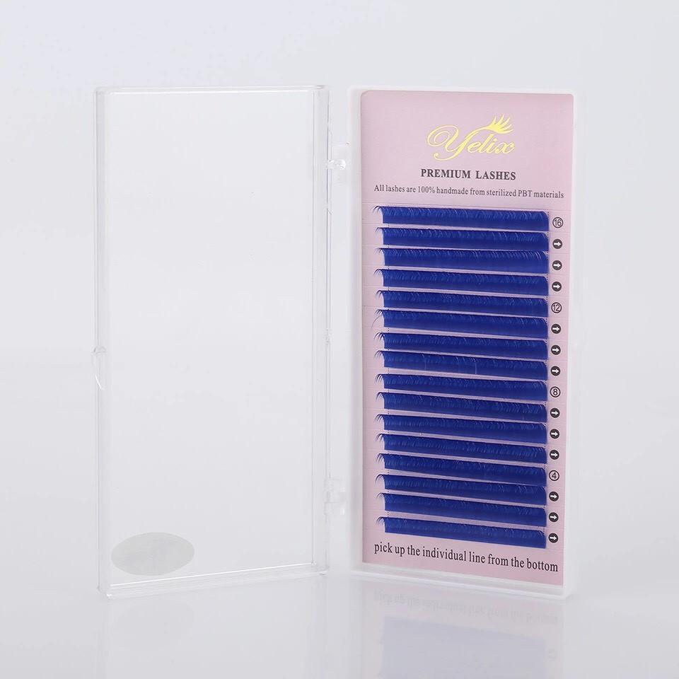 """Синие ресницы """"Yelix"""", D/0.12 - 10 мм"""