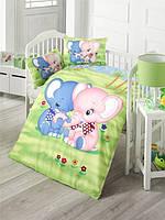 Постельное белье в кроватку ранфорс ELEPHANT LightHouse Bebek