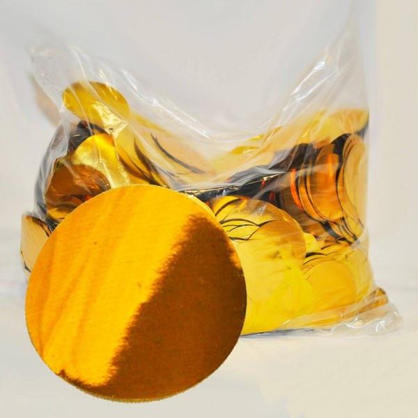 Конфетти кружочки, золотые 23 мм, 100 грамм