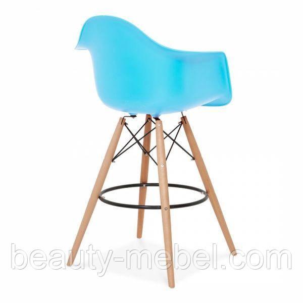 Стул для визажиста, барный Тауэр Вуд Eames, цвет голубой