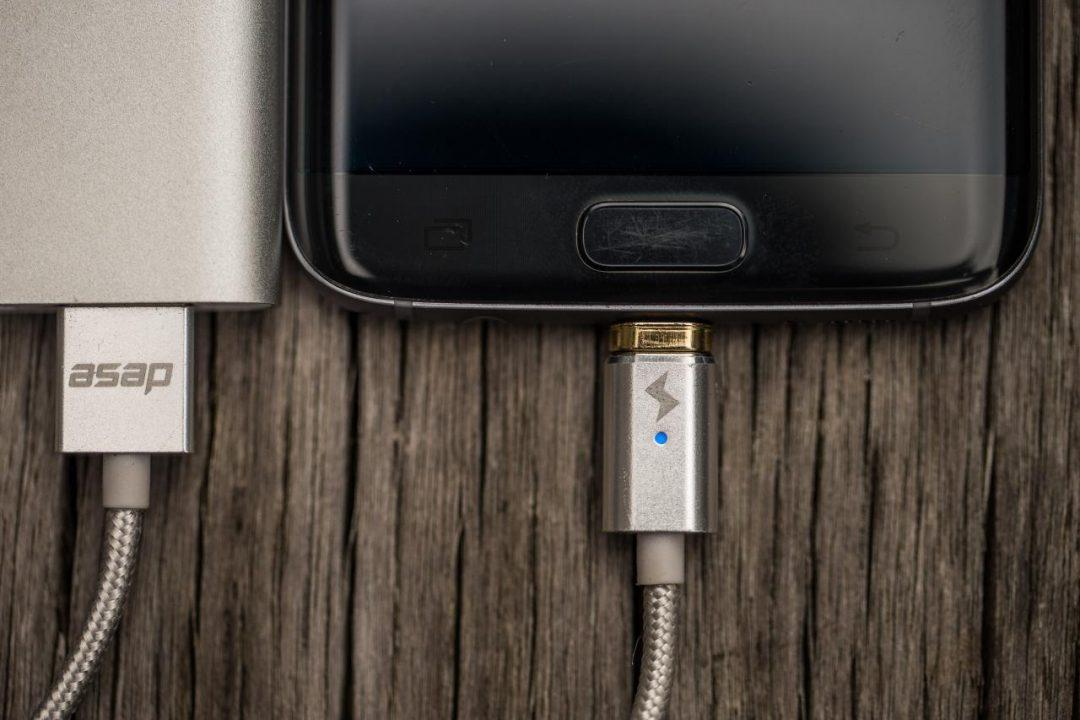Магнитный кабель ASAP X-Connect  microUSB (Android) зарядка 2.4А (GunMetal)