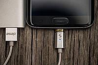 Магнитный кабель ASAP X-Connect  microUSB (Android) зарядка 2.4А (GunMetal), фото 1