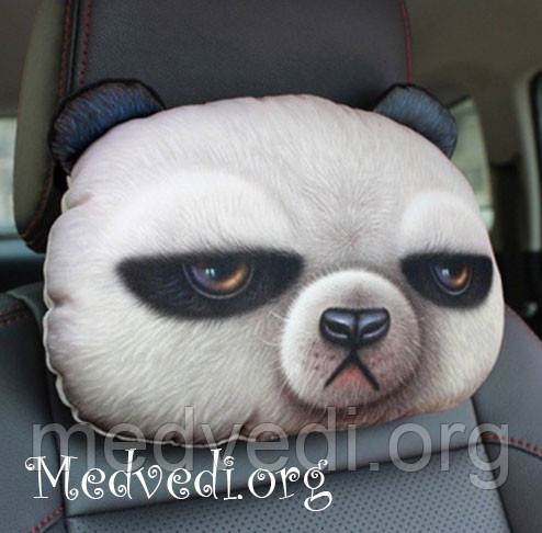 Подушка панда, подголовник для авто, 3 D принт