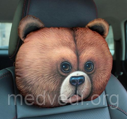 Подушка підголівник для авто ведмідь