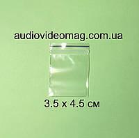 Зип-пакет со струнным замком Zip-lock, размер 3.5 х 4.5 см, упаковка 100 шт.