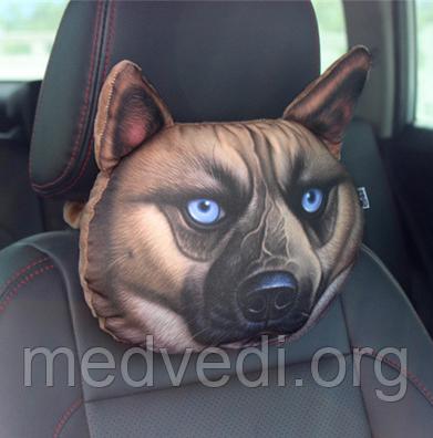 Подушка подголовник для машины Собака