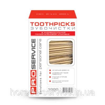 PRO-service зубочистки в индивидуальной полиэтиленовой упаковке 1000 шт., фото 2