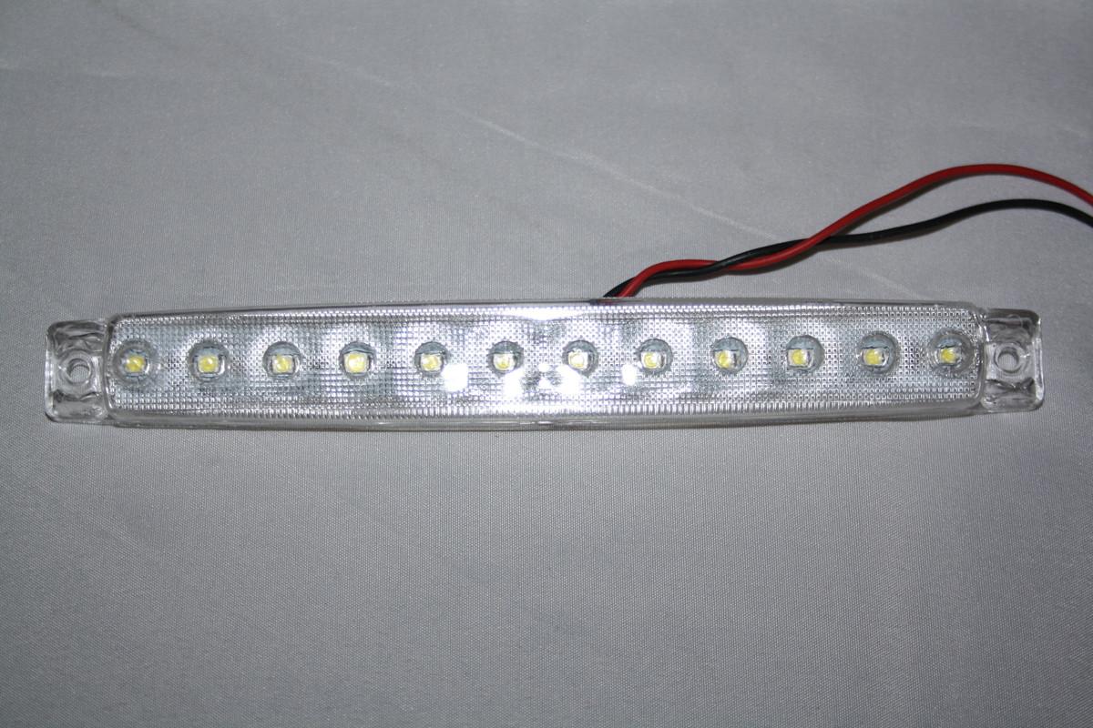 Габаритний ліхтар 12 діодів білий