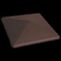 Шапка King-klinker 310x310 керамическая на столб забора коричневая