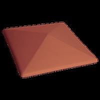 Шапка керамическая King-klinker 310x310 на столб забора красная