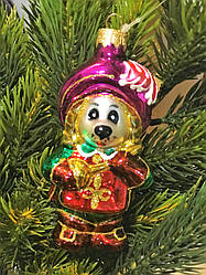 Стеклянная елочная игрушка Собачка - Мушкетер