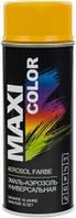 Универсальная аэрозольная эмаль Maxi Color 400 мл, Золотисто-желтая RAL 1004