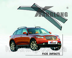 Дефлекторы окон с хром молдингом Infinity FX 2003-2008