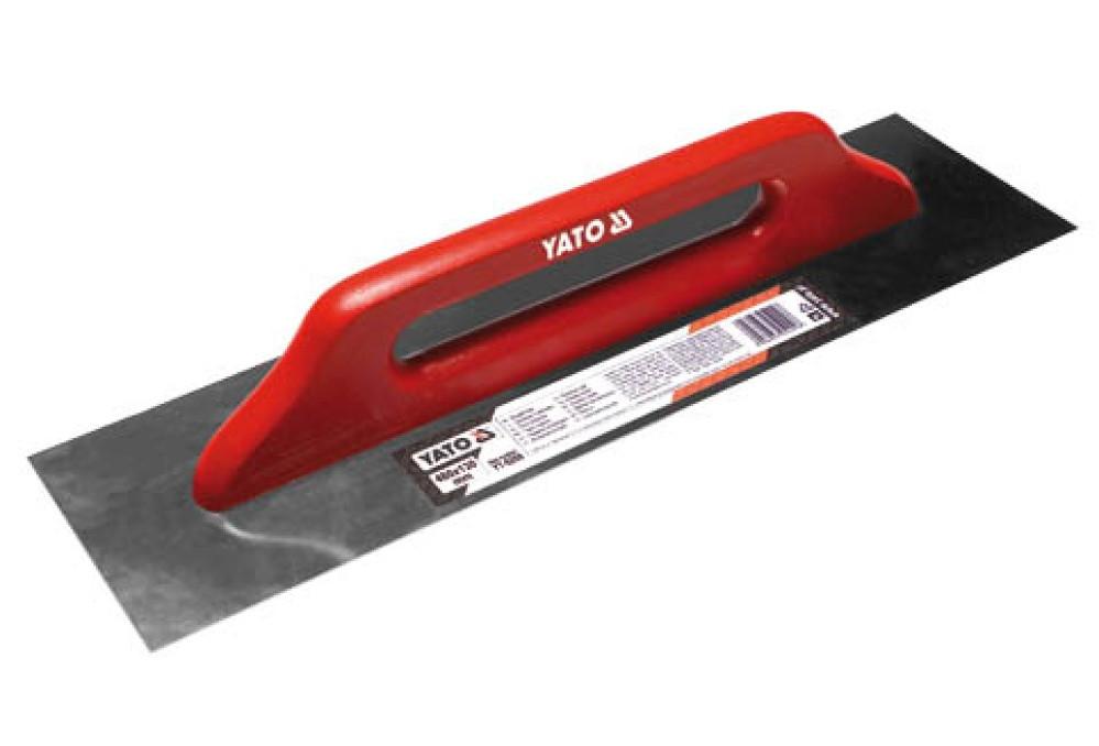 Гладилка нержавеющая гладкая 580х130мм, YT-5210 YATO