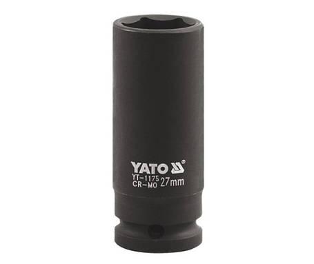 """Головка ударнаяя 1""""x30мм, YT-1176 YATO, фото 2"""