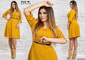 Платье больших размеров с расклешенной юбкой арт 41/46961-1