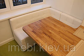 Мягкий кухонный уголок на балкон или лоджию (Белый)