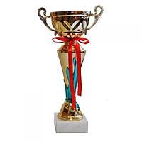 Кубок с чашей на камне 31 см(синий)