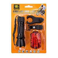 Ліхтар вело + мигалка 5 LED + 2крепежа