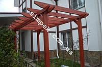 Пергола деревянная 2540 х 4000 х 2100 мм