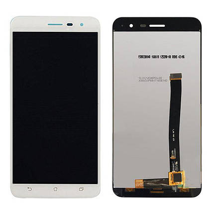 Дисплей (экран) для Asus ZenFone 3 (ZE520KL) с сенсором (тачскрином) белый, фото 2