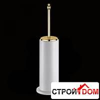 Ёршик для унитаза с керамической колбой напольный Bagno & Associati Tempo TM 252 52 Золото