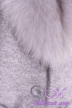 """Длинное женское зимнее пальто с красивым мехом (р. S, М, L) арт. Габриэлла """"3717"""" - 19293, фото 2"""