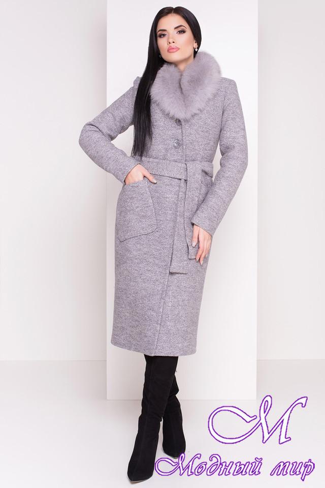4aeebe8c09e97 Длинное женское зимнее пальто с красивым мехом (р. S, М, L) арт ...