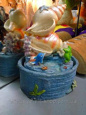 Фонтан  морстой с ракушкой и дельфином