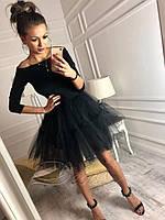 Модное женское платье юбка фатин (2 цвета)