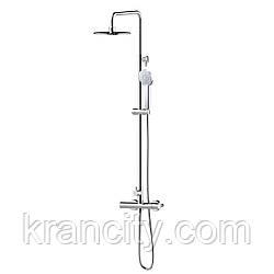 Система душевая  (смеситель-термостат для душа, верхний и ручной душ, шланг) IMPRESE CENTRUM Т-15420