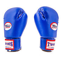Боксерские перчатки Twins (PVC, 4-6oz, синий)