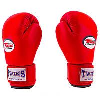 Боксерские перчатки Twins (PVC, 4-6oz, красный), фото 1