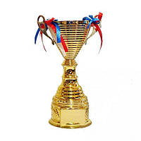 Кубок спортивный с лентой 28 см, фото 1