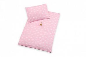Постельное белье в коляску Корона, розовый (Набор в кроватку)
