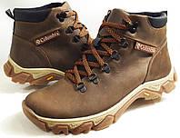 Мужские Зимние Кожаные ботинки Columbia model K-2 коричневые Польша