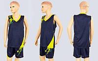Форма баскетбольная подростковая Pace  (PL, р-р S, M, L,115,120, рост 125-165, желто-черный), фото 1