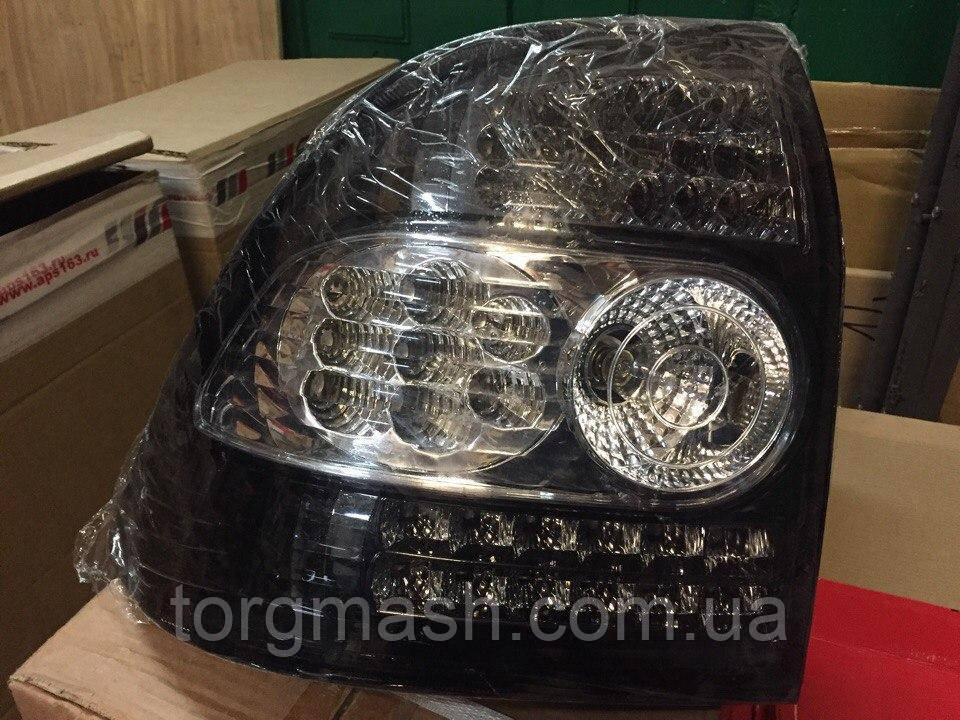 Задние фонари Лада Приора седан, хэтчбэк (ВАЗ 2170, 2172, 21728), светодиодные, черный хром