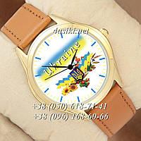 Часы Украина 181 Brown-Gold